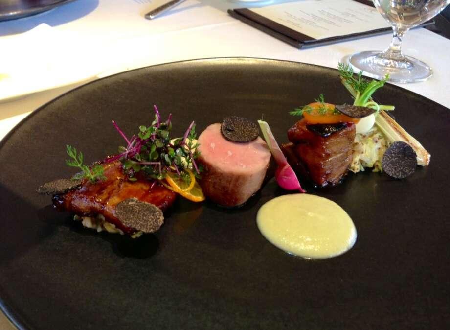 Pork three ways at Etoile at Domaine Chandon