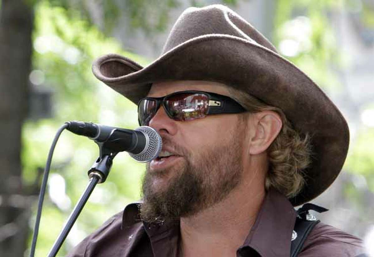 """Toby Keith Best known for, """"Courtesy of the Red, White and Blue."""""""