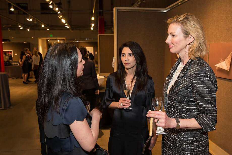 Courtney Dellaire, Candace Cavanaugh and Laura Nagle at SFMOMA's Collectors' Preview Party on February 28, 2013. Photo: Drew Altizer Photography