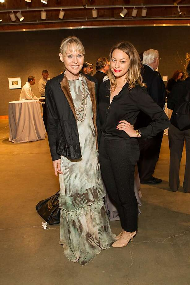 Christine Suppes and Jacqueline Rais at SFMOMA's Collectors' Preview Party on February 28, 2013. Photo: Drew Altizer Photography