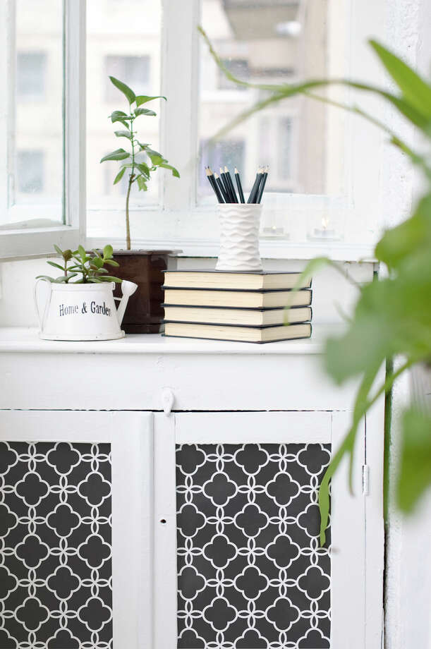 Stenciling has become bolder and more of a statement. This Eastern Lattice Moroccan stencil is by Royal Design Studio. (Akron Beacon Journal/MCT) Photo: Handout, MBR / Akron Beacon Journal