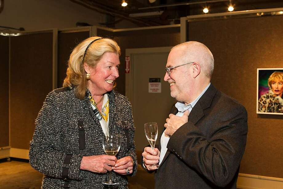 Laura King Pfaff and Gary Garrels at SFMOMA's Collectors' Preview Party on February 28, 2013. Photo: Drew Altizer Photography