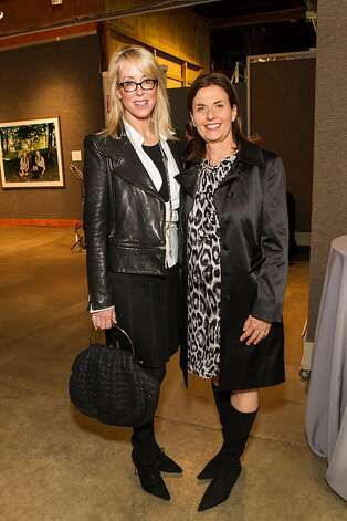 Laura Sweeney and Valerie Corvin at SFMOMA's Collectors' Preview Party on February 28, 2013. Photo: Drew Altizer Photography