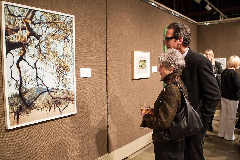Fred Levin and Nancy Livingston admire the artwork at SFMOMA's Collectors' Preview Party on February 28, 2013. Photo: Drew Altizer Photography