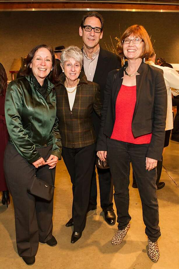 Abby Schnair, Nancy Livingston, Fred Levin and Jan O'Brien at SFMOMA's Collectors' Preview Party on February 28, 2013. Photo: Drew Altizer Photography