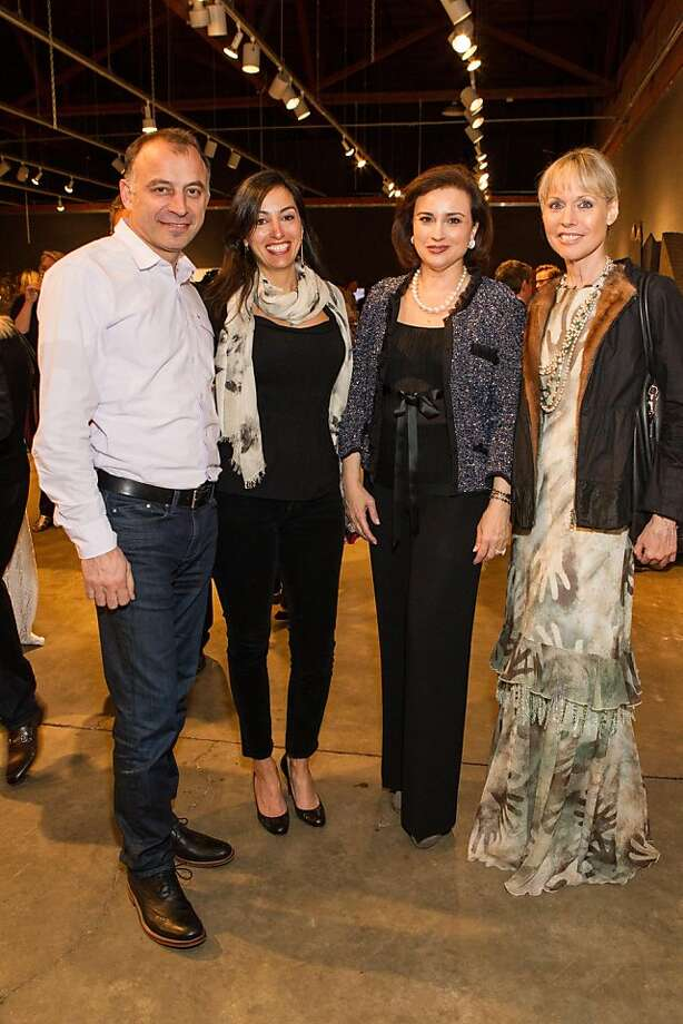 Ramzi Haidamus, Maria Haidamus, Dolly Chammas and Christine Suppes at SFMOMA's Collectors' Preview Party on February 28, 2013. Photo: Drew Altizer Photography