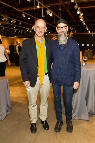 Barry Owen and Dan Becker at SFMOMA's Collectors' Preview Party on February 28, 2013. Photo: Drew Altizer Photography