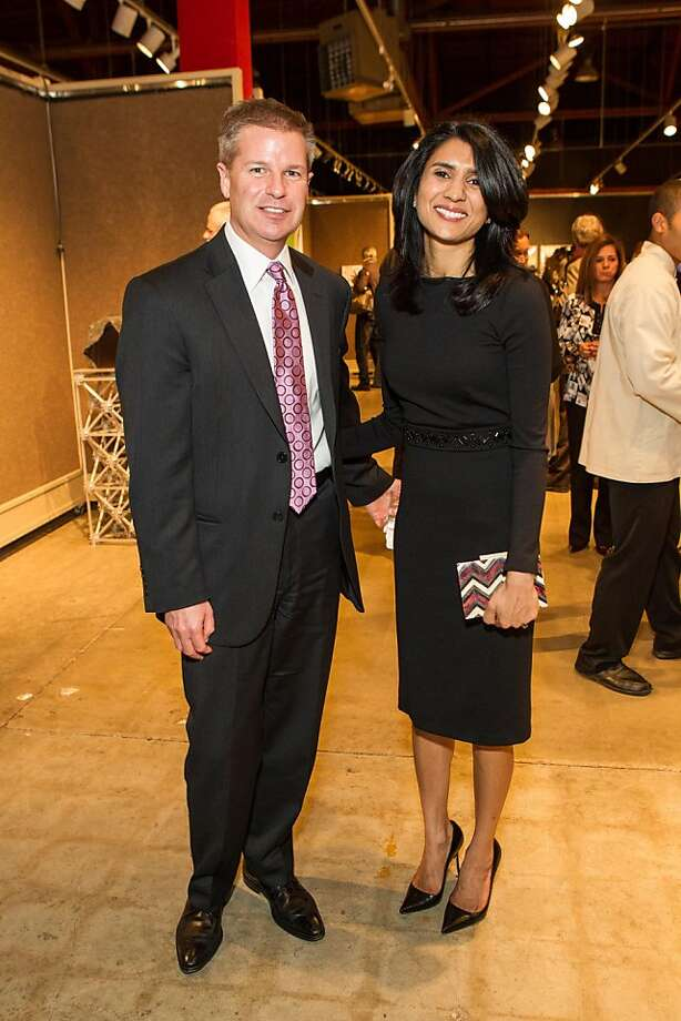 Jonathan Peterson and Alka Agrawal at SFMOMA's Collectors' Preview Party on February 28, 2013. Photo: Drew Altizer Photography