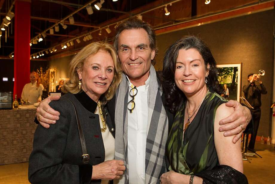 Sara Hill, David Birka-White and Elizabeth Birka-White at SFMOMA's Collectors' Preview Party on February 28, 2013. Photo: Drew Altizer Photography