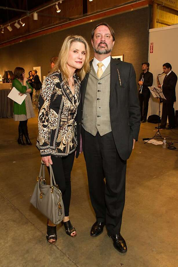 Gwynned Vitello and Jonathan Fogel at SFMOMA's Collectors' Preview Party on February 28, 2013. Photo: Drew Altizer Photography