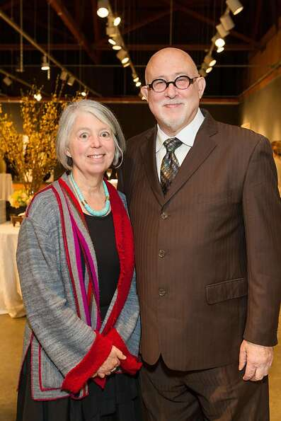 Sandra Phillips and Robert Shimshak at SFMOMA's Collectors' Preview Party on February 28, 2013.