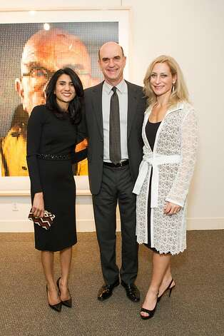 Alka Agrawal, Bob Fisher and Joni Binder Shwarts at SFMOMA's Collectors' Preview Party on February 28, 2013. Photo: Drew Altizer Photography