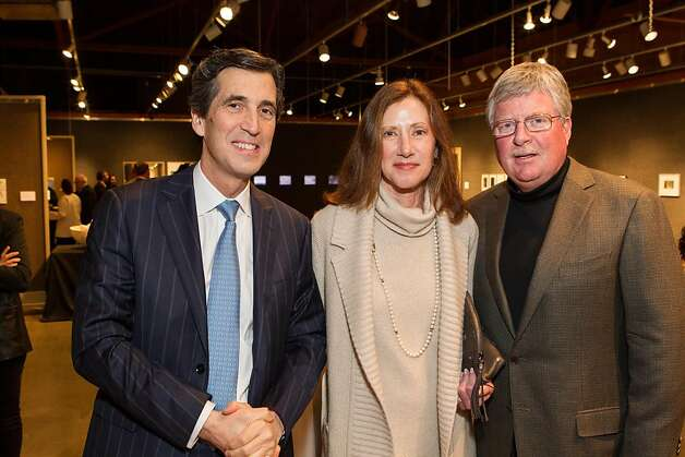 Andrew Barnett, Claire Slaymaker and Rob Slaymaker at SFMOMA's Collectors' Preview Party on February 28, 2013. Photo: Drew Altizer Photography
