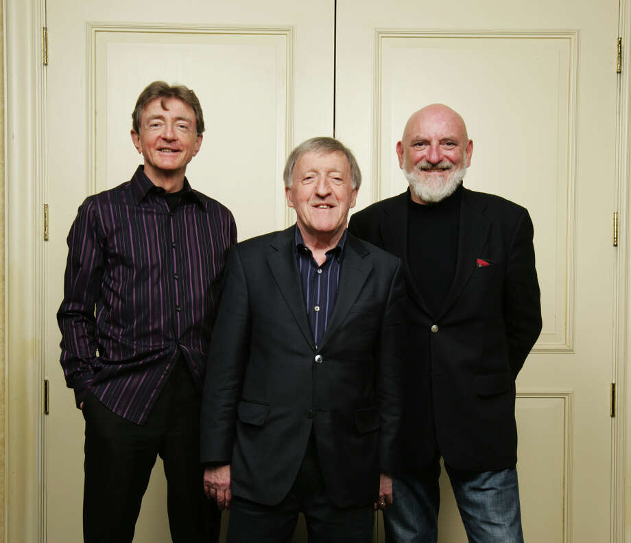 The Chieftains, featuring Kevin Conneff, left, Paddy Moloney and Matt Molloy, perform at the Palace in Stamford on Tuesday, March 12. Photo: Contributed Photo