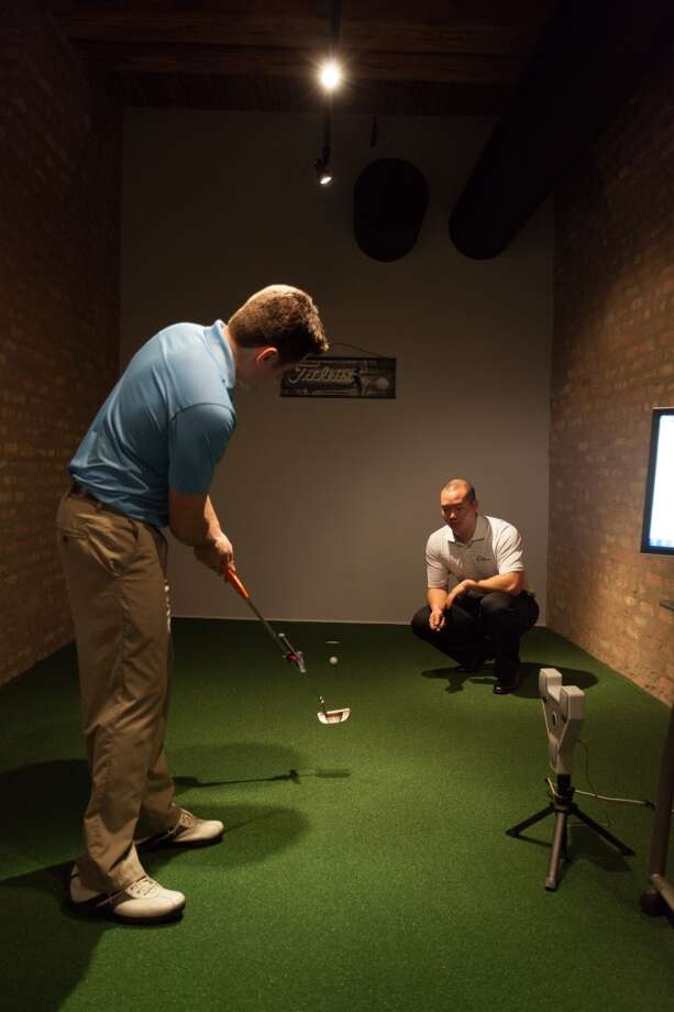 The golfer will then test the custom demo club in a virtual, in-store hitting bay to get a feel for the new club that they will play with after purchase.
