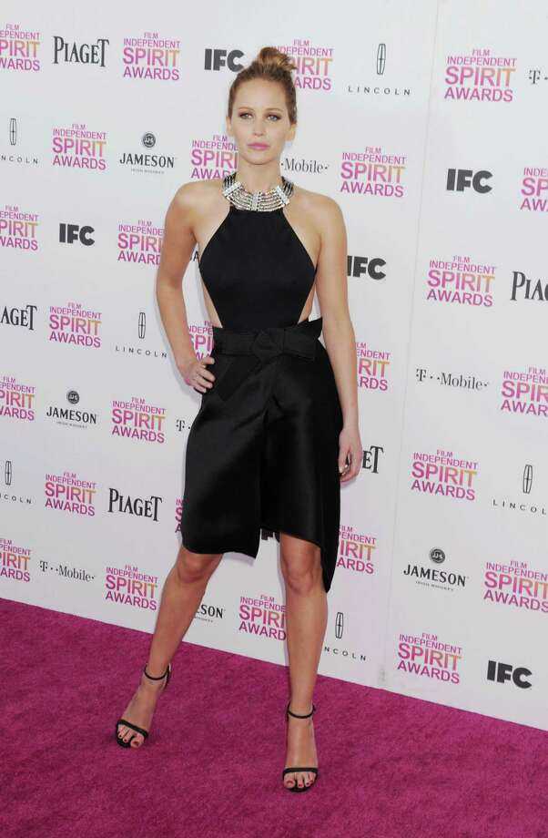 Jennifer Lawrence attends the 2013 Film Independent Spirit Awards in Lanvin at Santa Monica Beach on February 23, 2013 in Santa Monica, California. Photo: Jeffrey Mayer, WireImage / 2013 Jeffrey Mayer