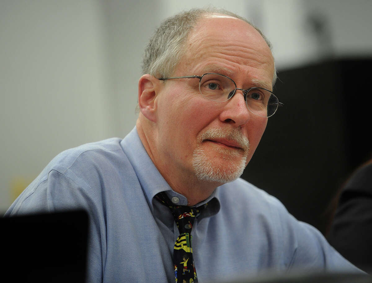 Bridgeport Supt. of Schools Paul Vallas listens to public comment during the Bridgeport Board of Education meeting at the Aquaculture School in Bridgeport on Monday, February 25, 2013.