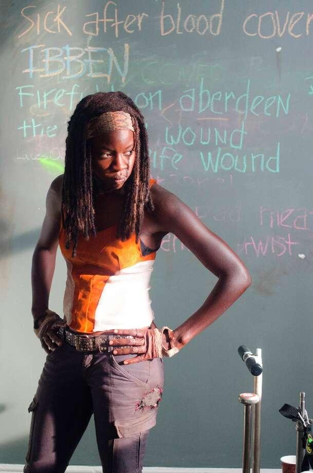 Michonne (Danai Gurira) - The Walking Dead - Season 3, Episode 12 - Photo Credit: Gene Page/AMC Photo: Gene Page/AMC