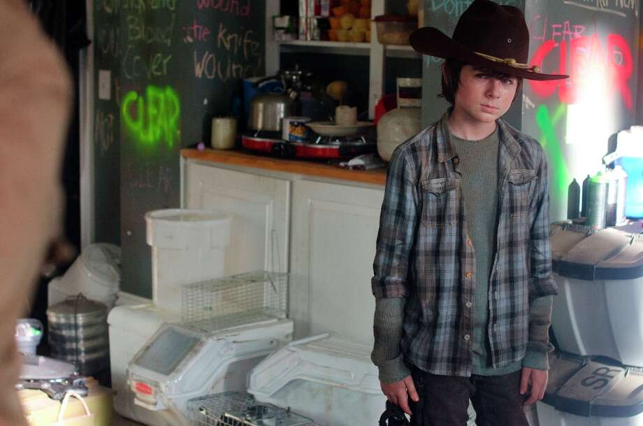 Carl Grimes (Chandler Riggs) - The Walking Dead - Season 3, Episode 12 - Photo Credit: Gene Page/AMC Photo: Gene Page/AMC