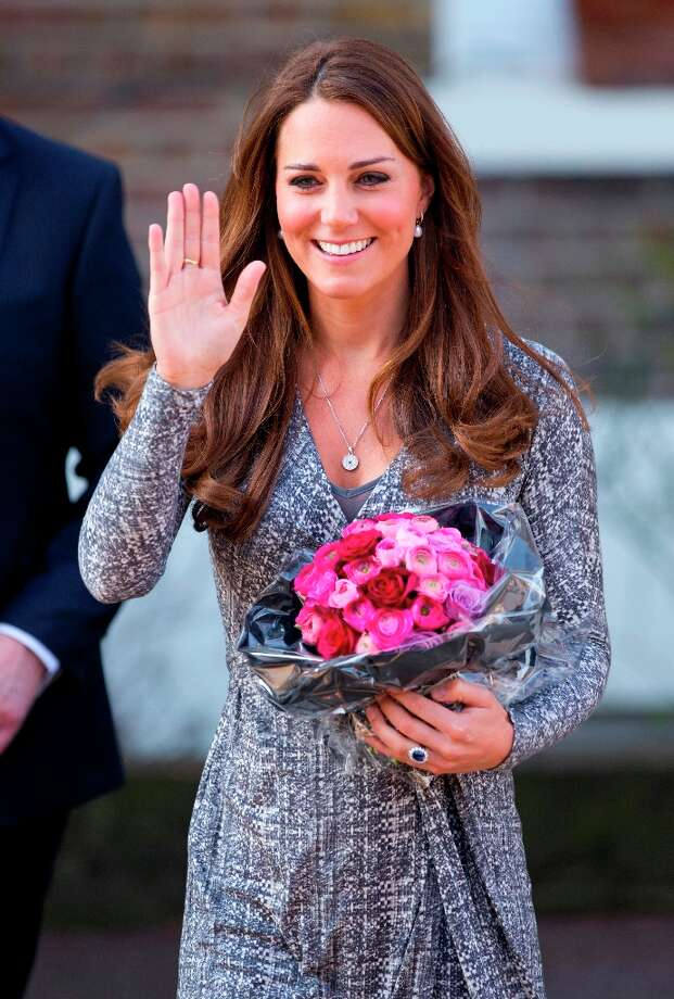 Catherine, Duchess of Cambridge, in her role as Patron of Action on Addiction, waves as she leaves Hope House, a residential treatment centre, on February 19, 2013 in London, England. Photo: Indigo, Getty Images / 2013 Indigo