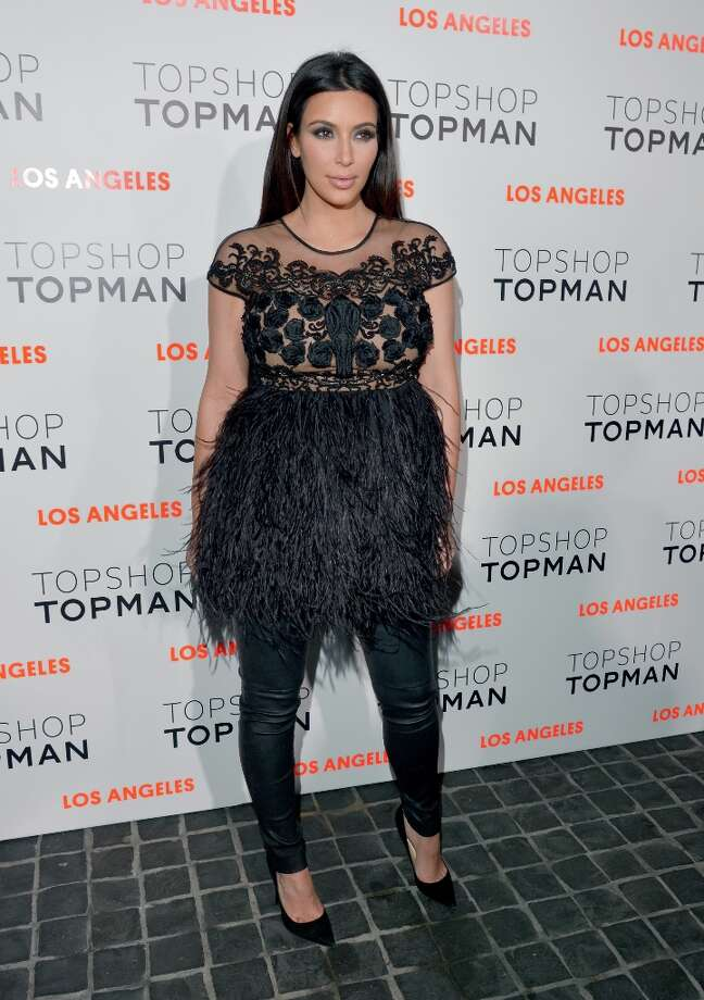 Kim Kardashian arrives at the Topshop Topman LA Opening Party at Cecconi's West Hollywood on February 13, 2013 in Los Angeles, California. Photo: Lester Cohen / 2013 Lester Cohen