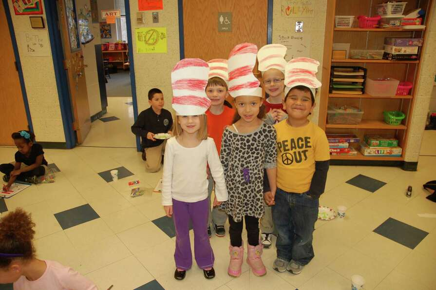 Doane Stuart kindergarten students show off their Dr. Seuss Hats on March 1, 2013, in Rensselaer, N.