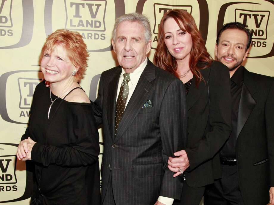 ) Actors Bonnie Franklin, Pat Harrington Jr, Mackenzie Phillips and Glenn Scarpelli attend the 10th Annual TV Land Awards at the Lexington Avenue Armory on April 14, 2012, in New York City.  (Photo by Charles Eshelman/FilmMagic) Photo: Charles Eshelman, Getty / 2012 Charles Eshelman