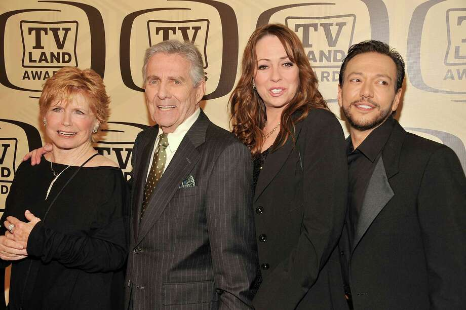 Bonnie Franklin, Pat Harrington Jr, Mackenzie Phillips and Glenn Scarpelli attend the 10th Annual TV Land Awards at the Lexington Avenue Armory on April 14, 2012, in New York City. Photo: Gary Gershoff, Getty / 2012 Getty Images