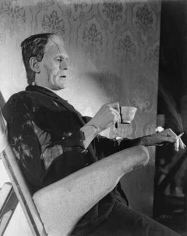 Sometimes though, Frankenstein just wants to chill and have a cigarette. Photo: John Kobal Foundation, Getty Images / 2012 John Kobal Foundation