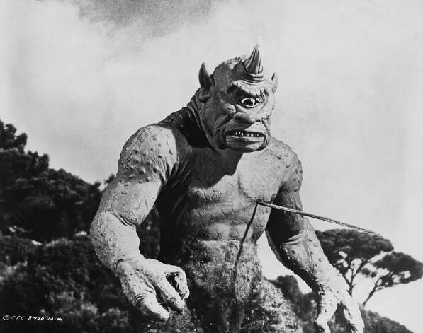 Ray Harryhausen's monstrous cyclops from 'The 7th Voyage of Sinbad', 1958. Photo: Columbia Pictures, Getty Images / 2008 Getty Images