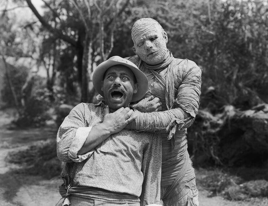 The MummyAmerican actor Lon Chaney Jr. dressed in character as Kharis the mummy, strangles the hapless Kurt Katch as Cajun Joe in a still from director Leslie Goodwins's film, 'The Mummy's Curse' in 1944. Photo: Hulton Archive, Getty Images / Archive Photos