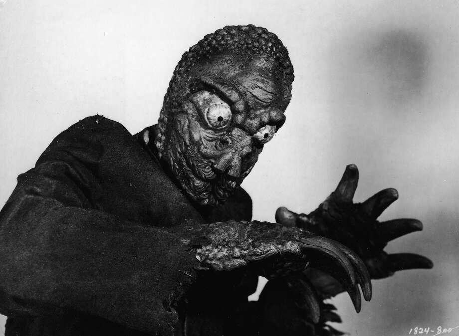 The Mole PeopleA mole person holds its arms out, bent at the elbows, in a film still from the horror movie 'The Mole People,' directed by Virgil W. Vogel, 1956. Photo: Universal Pictures, Getty Images / Moviepix