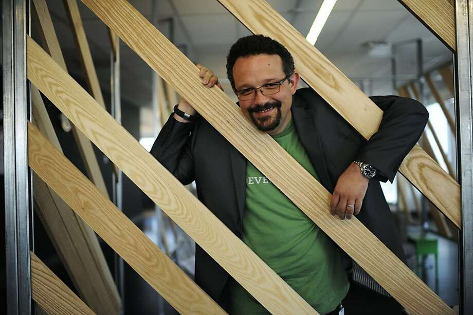 Evernote CEO Phil Libin hopes to expand to 1 billion users from the current 50 million with the release of software focused on the business market. Photo: Yue Wu, The Chronicle