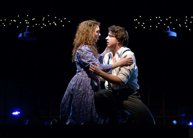 Anna Giordano, as Wendla, and Vincent McCoy, as Melchior, embrace their newly discovered feelings in the WCSU Theatre Arts production of  âÄúSpring Awakening.âÄù The show will be on stage at Western Connecticut State University in Danbury through March 16. Photo: Contributed Photo