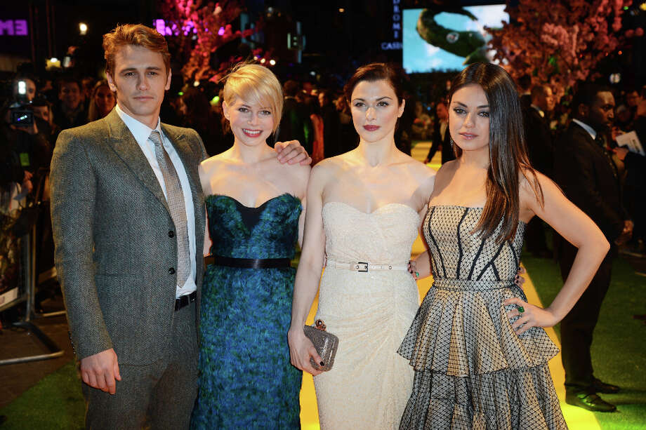 (L-R) James Franco, Michelle Williams, Rachel Weisz and Mila Kunis attend the European premiere of 'Oz: The Great And Powerful' at The Empire Leicester Square on February 28, 2013 in London, England. Photo: Dave J Hogan, Getty Images / 2013 Getty Images