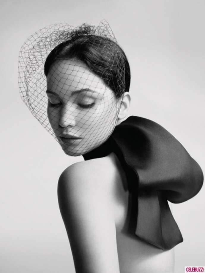 Actress Jennifer Lawrence in her new Miss Dior advertising campaign.