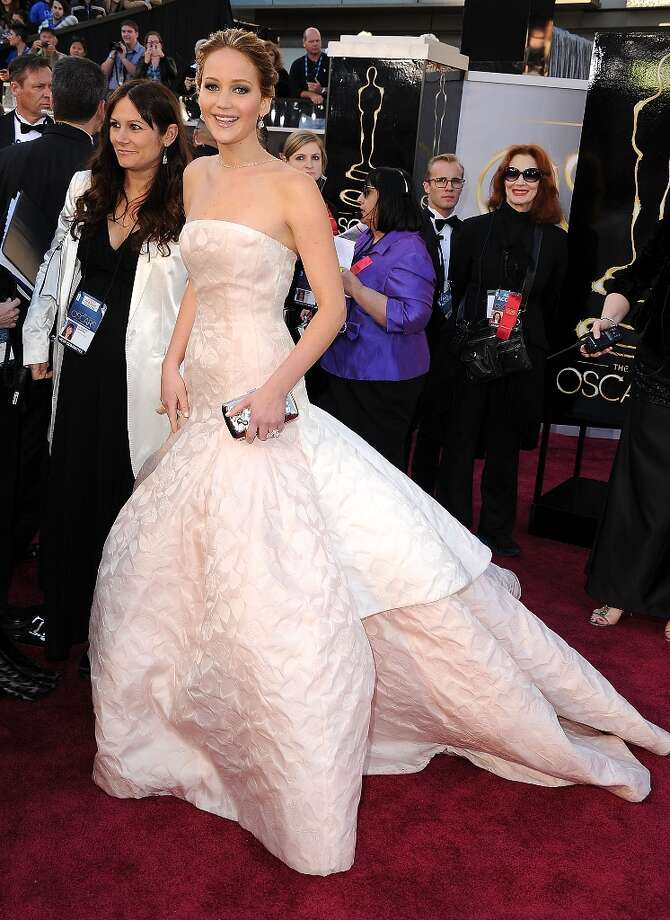 Jennifer Lawrence arrives at the 85th Annual Academy Awards at Dolby Theatre on February 24, 2013 in Hollywood, California. Photo: Steve Granitz, WireImage / 2013 Steve Granitz