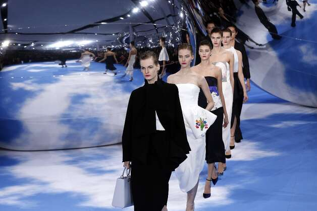 Models present creations for Christian Dior during the Fall/Winter 2013-2014 ready-to-wear collection show, on March 1, 2013 in Paris. Photo: FRANCOIS GUILLOT, AFP/Getty Images / 2013 AFP