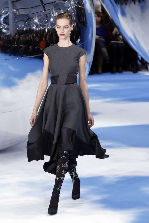 A model presents a creation for Christian Dior during the Fall/Winter 2013-2014 ready-to-wear collection show, on March 1, 2013 in Paris. Photo: FRANCOIS GUILLOT, AFP/Getty Images / 2013 AFP