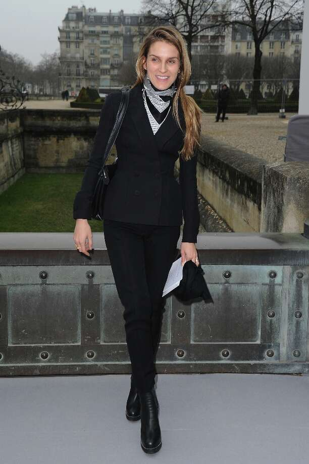 Gaia Repossi arrives to attend the Christian Dior Fall/Winter 2013 Ready-to-Wear show as part of Paris Fashion Week on March 1, 2013 in Paris, France. Photo: Pascal Le Segretain, Getty Images / 2013 Getty Images