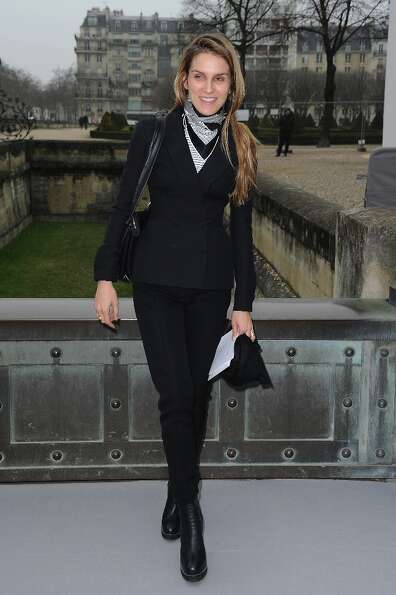 Gaia Repossi arrives to attend the Christian Dior Fall/Winter 2013 Ready-to-Wear show as part of Par