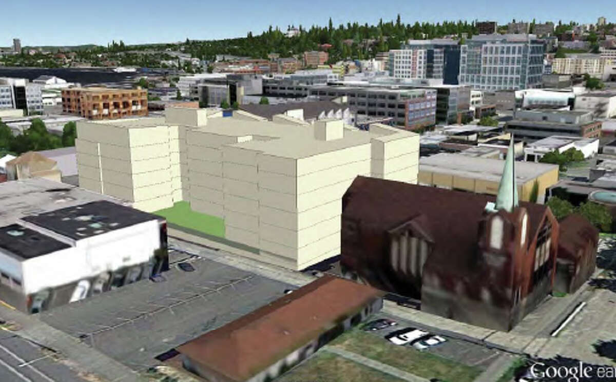 An artist's rendering of the proposed Eighth & Thomas building. Photo from developer's filings with the City of Seattle.