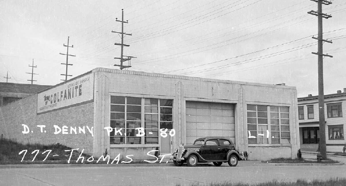 777 Thomas Street, pictured in 1937. Photo from Puget Sound Regional Archives, filed with the city by NK Architects.