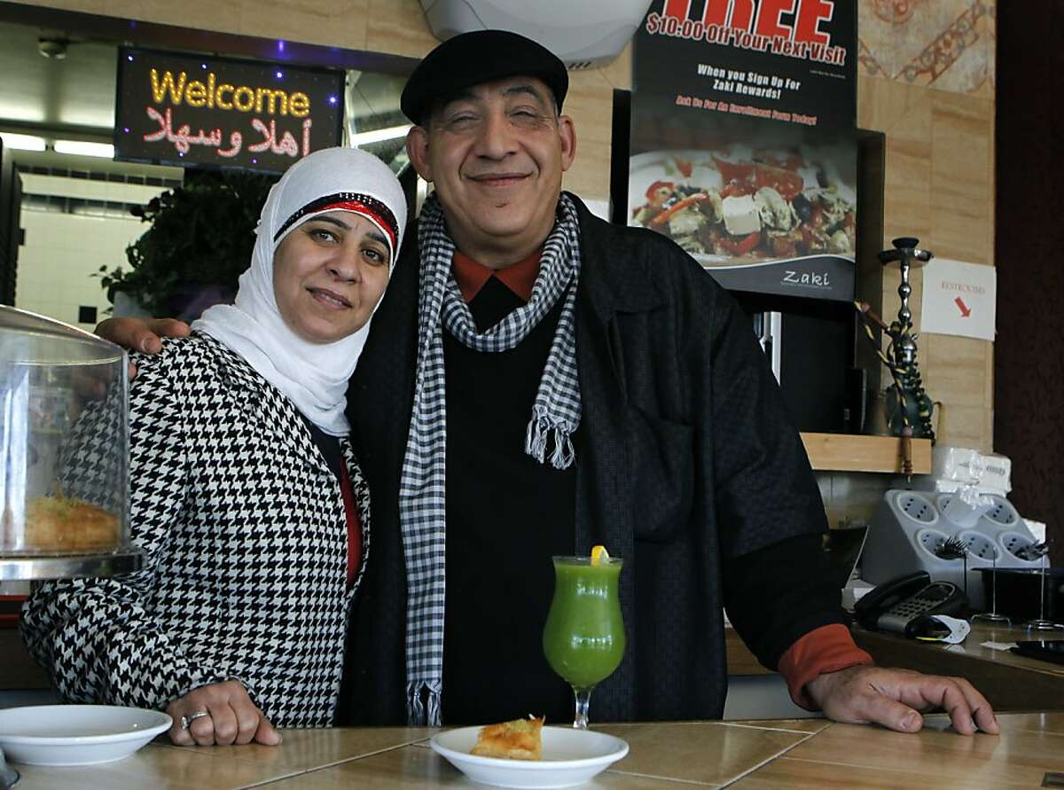 Naime Ayyad and his wife Fayza are seen at their Zaki Kabob House restaurant in Albany, Calif. on Wednesday, Feb. 20, 2013.