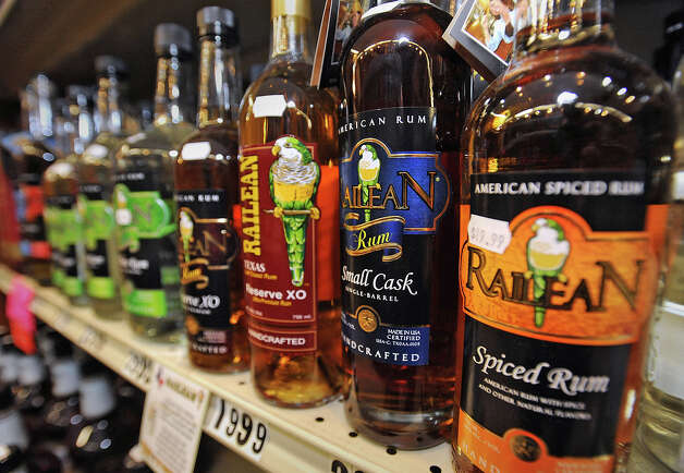 Texas spiced rum at Debb's Liquor in Beaumont.   Photo taken Wednesday, February 20, 2013 Guiseppe Barranco/The Enterprise Photo: Guiseppe Barranco, STAFF PHOTOGRAPHER / The Beaumont Enterprise