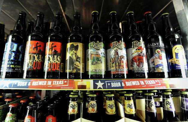 Texas beers at Debb's Liquor in Beaumont.   Photo taken Wednesday, February 20, 2013 Guiseppe Barranco/The Enterprise Photo: Guiseppe Barranco, STAFF PHOTOGRAPHER / The Beaumont Enterprise