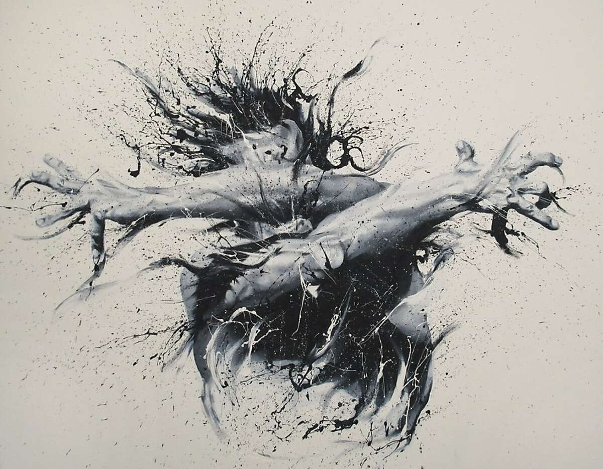 Pavone by Paolo Troilo. Italian painter Paolo Troilo paints his self-portraits by hand.