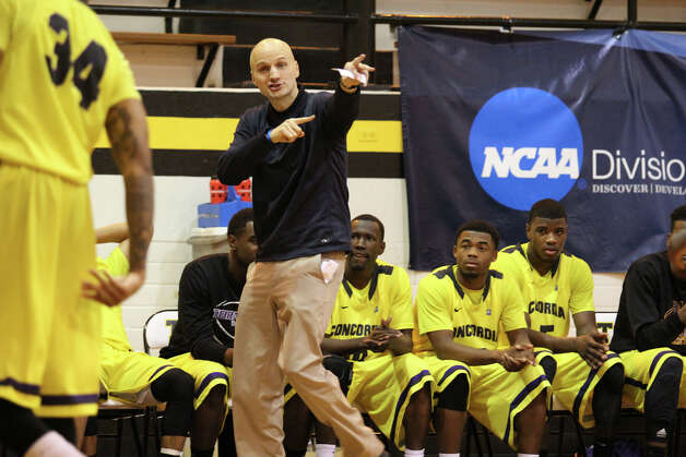 "Eighteen years after East Central used a frenetic system described as ""street ball with rules"" to go undefeated on its way to a state championship, one of the stars of that team is proving the Hornets' old style still works. Under the guidance of Stan Bonewitz Jr., Concordia is about to make its first-ever appearance in the NCAA Division III men's basketball tournament. And in an era in which scoring has reached record lows while the pace of play has screeched to a mind-numbing standstill, Bonewitz's Tornados -- who average 94 points per game -- are one of few remaining teams willing to run any time, anywhere. Photo: Matt Chmura/Concordia University, Express-News"