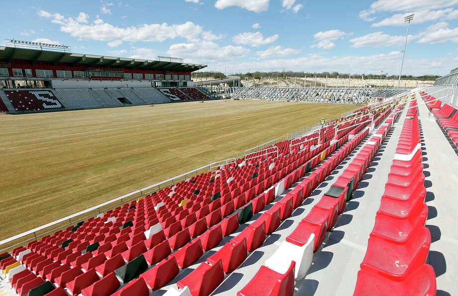A view of the new Toyota Field, which is under construction, home of the San Antonio Scorpions Friday March 1, 2013. The teams' home opener is Saturday April 13, 2013 at 7:30 p.m. against the Tampa Bay Rowdies. Photo: Edward A. Ornelas, Edward A. Ornelas / San Antonio Express-News / © 2013 San Antonio Express-News