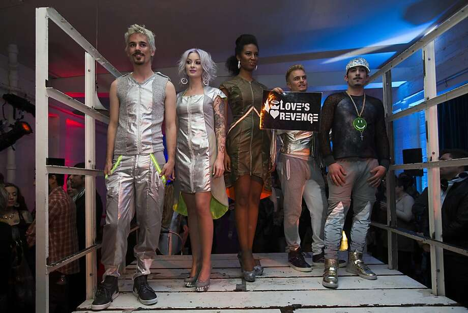 """A group of models wearing outfits by Love's Revenge stand on stage during fashion collective Underground Fashion Week's fashion show """"Carte Blanche"""" in San Francisco, Calif. on Thursday, Feb. 28, 2013. Photo: Stephen Lam, Special To The Chronicle"""